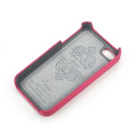 Pink Apple iPhone 4/4S Premium Leather Back Cover