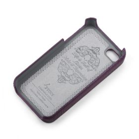 Purple Apple iPhone 4/4S Premium Leather Back Cover