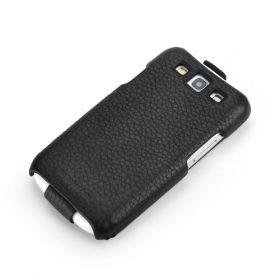 Black Samsung Galaxy S3 FLIP Down-Fold Premium Leather Case