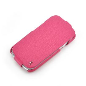 Pink Samsung Galaxy S3 FLIP Down-Fold Premium Leather Case