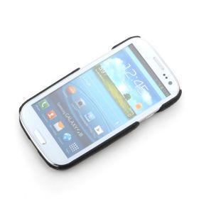 Black Samsung Galaxy S3 Premium Leather Back Cover