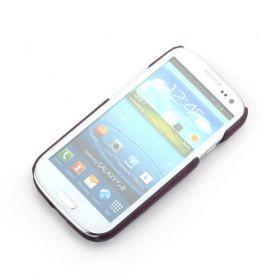 Purple Samsung Galaxy S3 Premium Leather Back Cover
