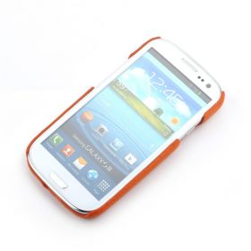 Orange Samsung Galaxy S3 Premium Leather Back Cover