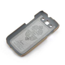 Khaki Grey Samsung Galaxy S3 Premium Leather Back Cover