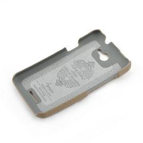 Khaki Grey HTC ONE-X Premium Leather Back Cover
