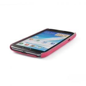Pink Premium Leather Back Cover for Samsung Galaxy Note 2