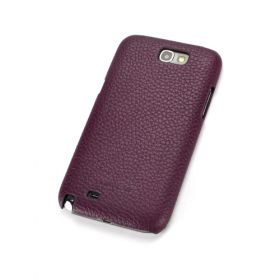 Purple Premium Leather Back Cover for Samsung Galaxy Note 2