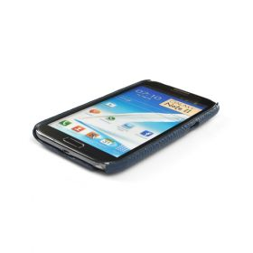 Blue Premium Leather Back Cover for Samsung Galaxy Note 2