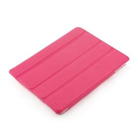 Pink Apple iPad2 or new Ipad Smart Case with Inspirational Cross Design