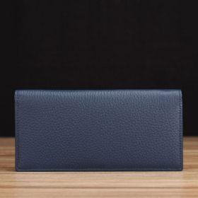 Blue Pebble Grain Leather