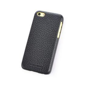 Black Apple iPhone 5C Premium Leather Back Cover