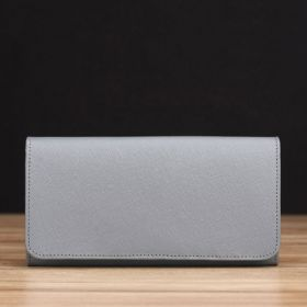 Grey Saffiano Leather