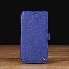 Blue Napa Leather