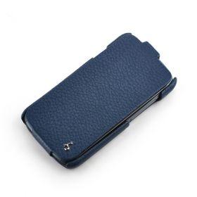 Blue HTC One S FLIP Down-Fold Premium Leather Case