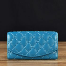 Leather Clutch in Quilted Pattern