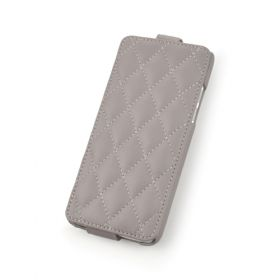 Custom Down Flip Quilted Pattern Leather Case for HTC One Mini