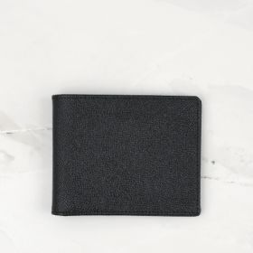 Black Cross Grain Leather