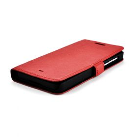 Custom Made Premium Genuine Leather Side Flip Leather Wallet Case for New Blackberry Z10