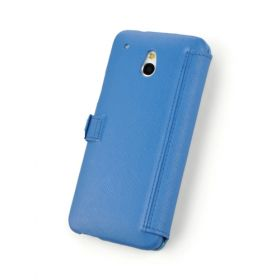 Custom Book Style Leather Wallet Case for HTC One Mini