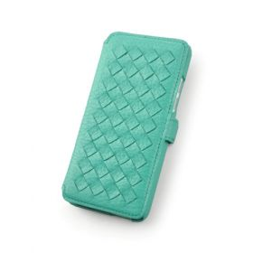 Custom Woven Book Style Wallet Case for HTC One Mini