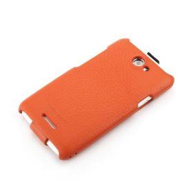 Orange HTC One X FLIP Down-Fold Premium Leather Case