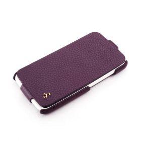 Purple HTC One X FLIP Down-Fold Premium Leather Case