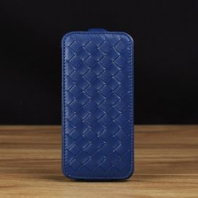 Woven Down Flip Leather Case