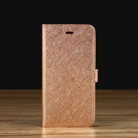 Rose Gold Saffiano Leather