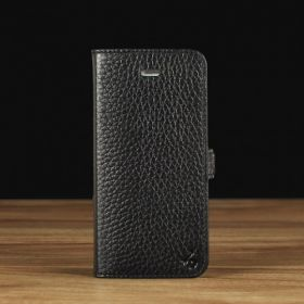 Black Pebble Grain Leather