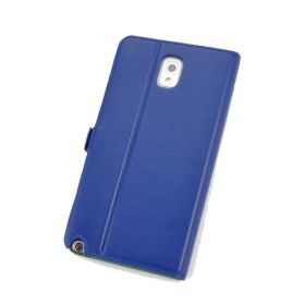 Custom Made Premium Genuine Leather Side Flip Stand Leather Wallet Case for Samsung Galaxy Note 3