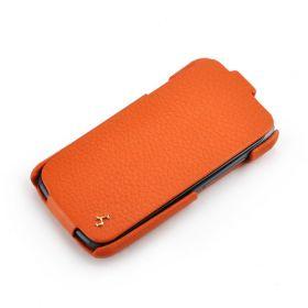 Orange HTC One S FLIP Down-Fold Premium Leather Case