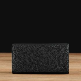Black Pebble Grained Leather