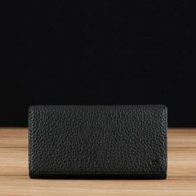 Black Pebble Grained Leather