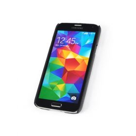 Black Samsung Galaxy S5 Premium Leather Back Cover