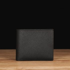 Black Saffiano Leather