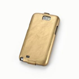 Custom Down Flip Quilted Pattern Leather Case for Samsung Galaxy Note 2