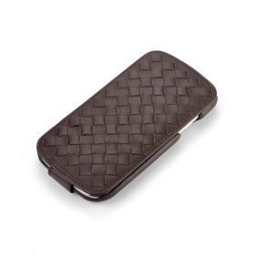Custom Down-Flip Woven for Samsung Galaxy S3 Leather Flip Case