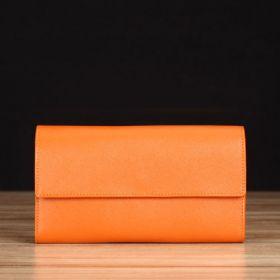 Orange Saffiano Leather