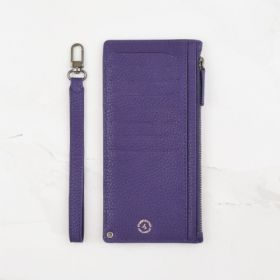Royal Purple Pebble Grain Leather