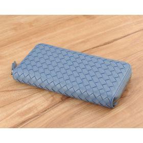 Steel Blue Woven Lambskin