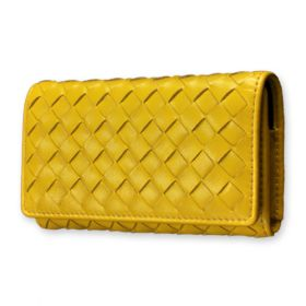 Woven Lambskin Leather Case