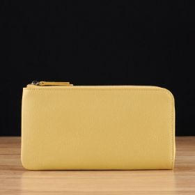 Yellow Saffiano Leather