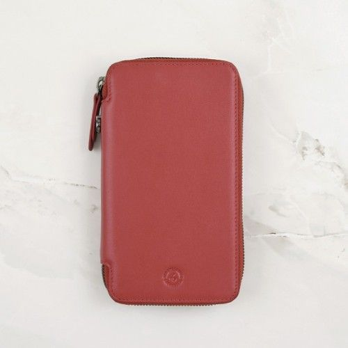 Cardinal Red Calfskin Leather