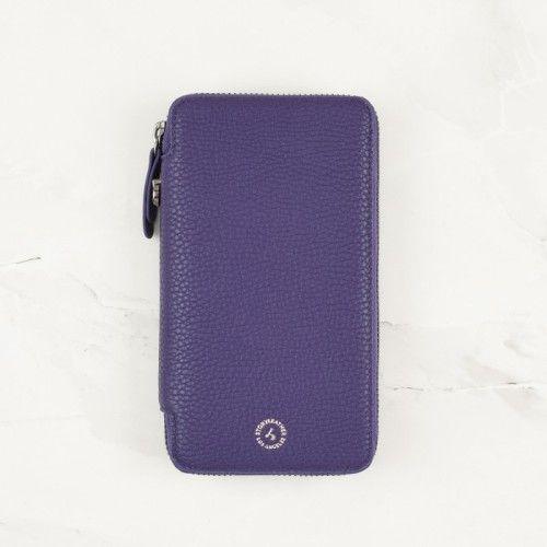 Royal Purple Pebble Grain Leather