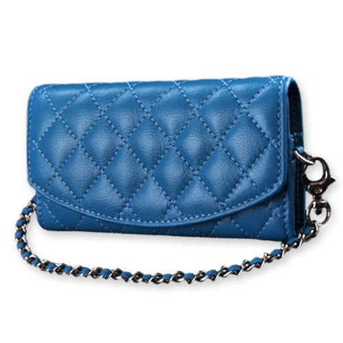Diamond Lambskin Leather Cluch Case