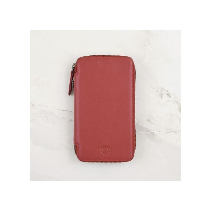 Cardinal Red Calfskin Leather