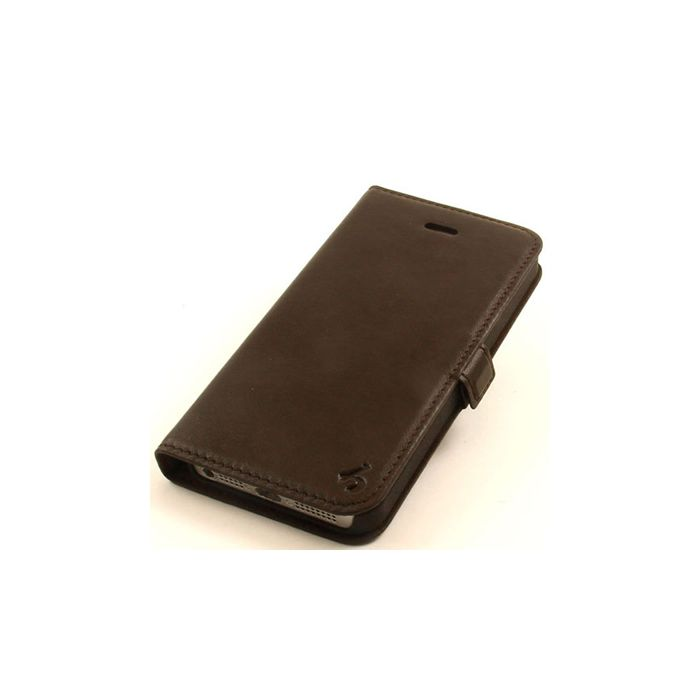 Dark Brown Coffee Side Flip Leather Wallet Case for Apple iPhone 5 - LIMITED RUN