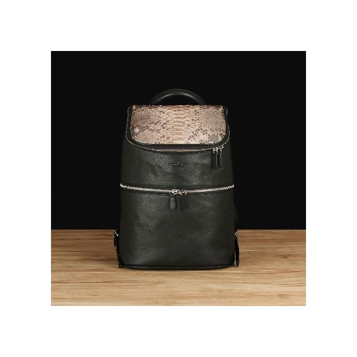 Black Italian Leather With Python