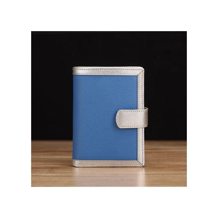 Sky Blue Saffiano Leather