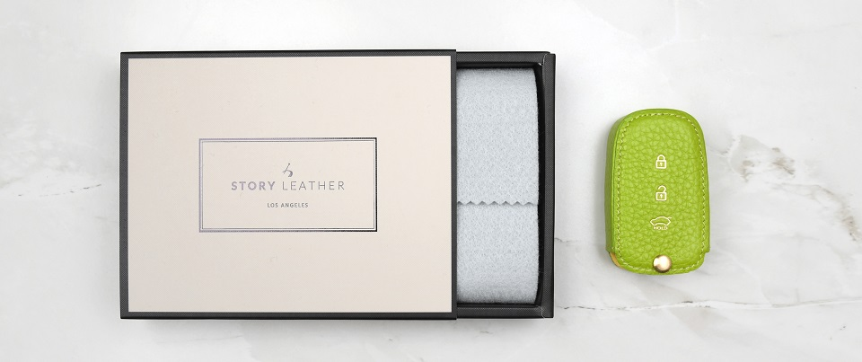 Custom Made Leather Key Cover for Your Hyundai Elantra Keyless Car Key Fob